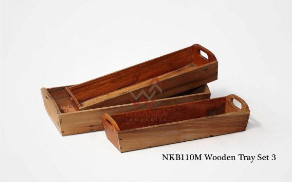 Wooden Tray Set 3
