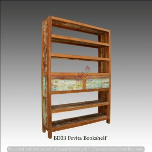 BD 03 Pevita Wooden Bookshelf