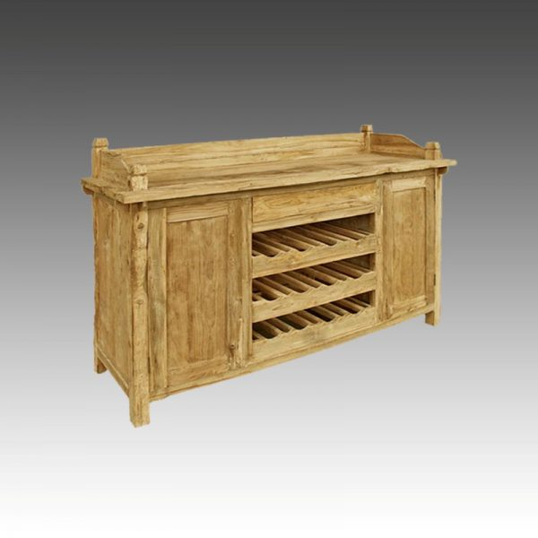 C1007 Vito Rustic Wood Drawer