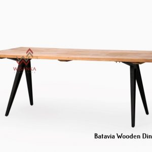 Batavia Wooden Dining Table