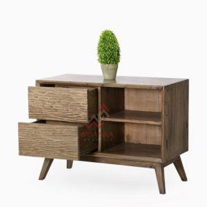Katsura Wooden Sideboard Tampak Perspektif (Custom)