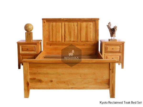Kyoto Reclaimed Teak Bed and Bedside