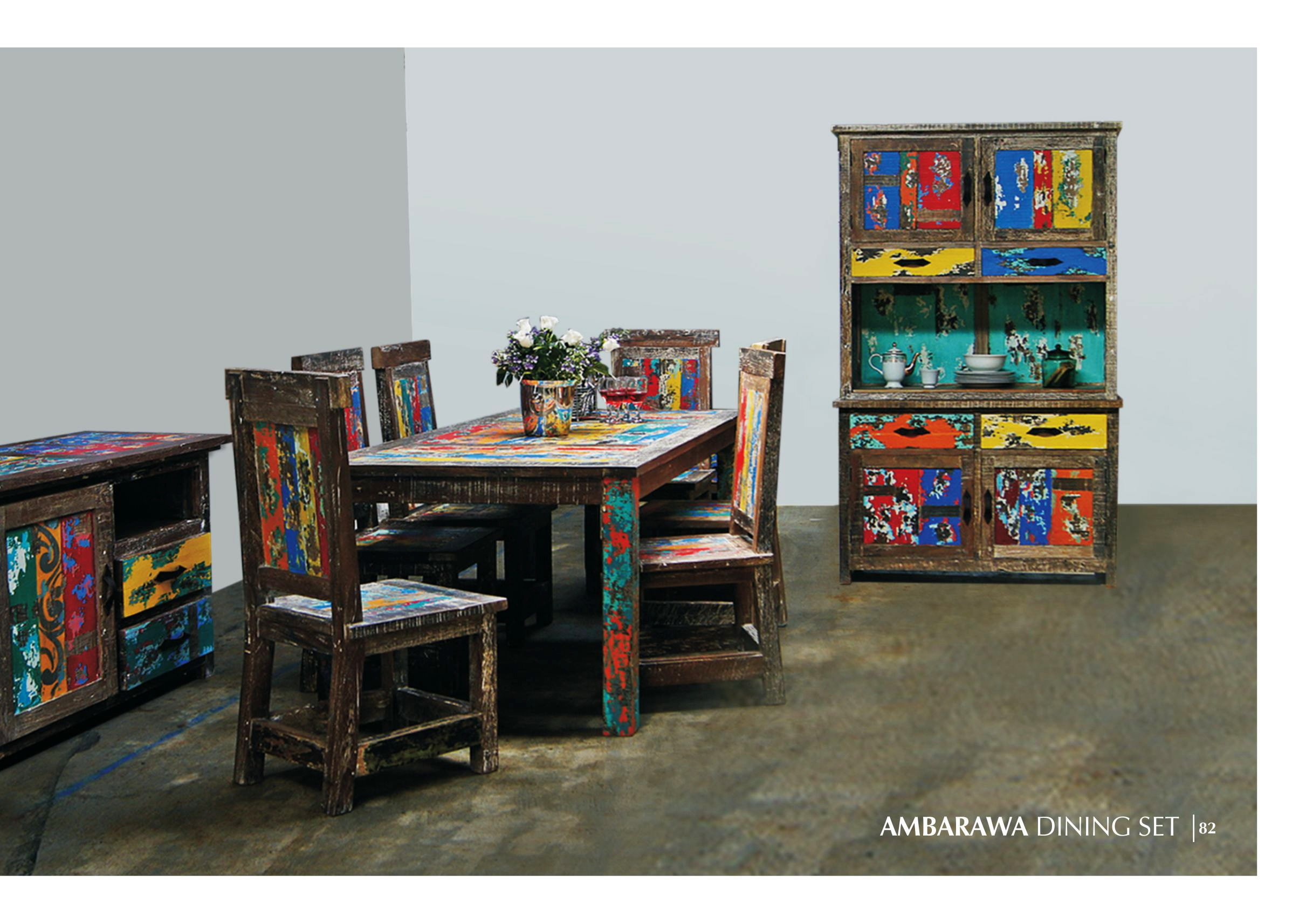 Ambarawa Boat Wood Dining Set