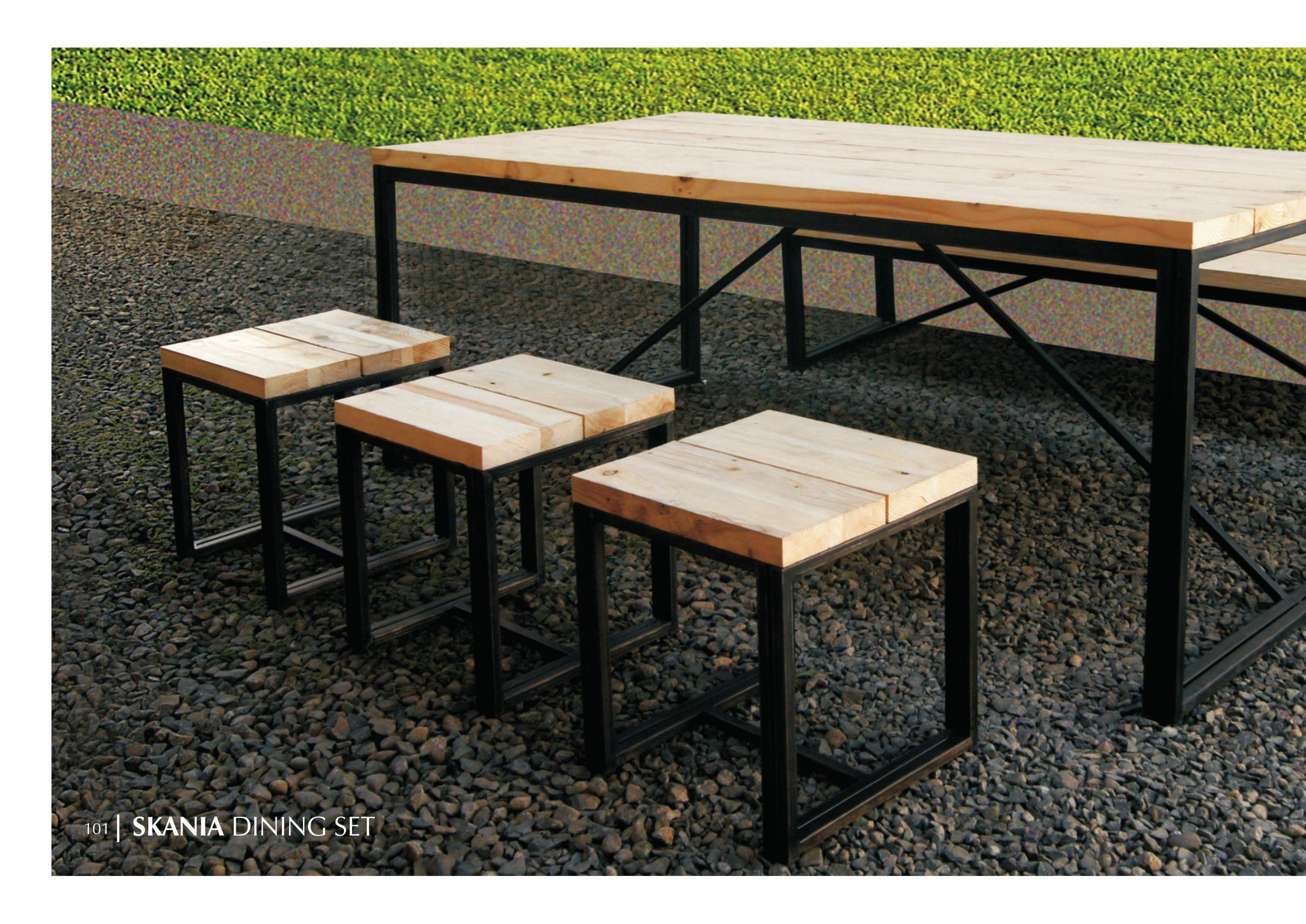 Skania wooden dining Set