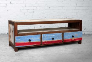 Boat Wood Tv Stand Set
