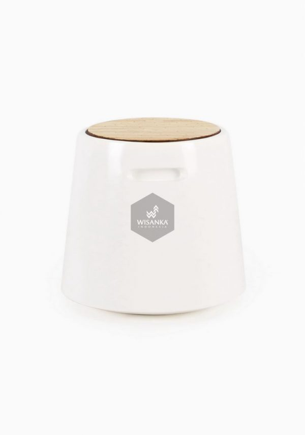 Wity Wooden Stool White
