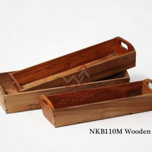 Wooden Tray Set 3