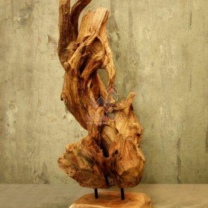 RM006 Meli Stand Wood Decor