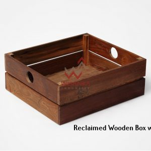 Reclaimed Wooden Box with Handle