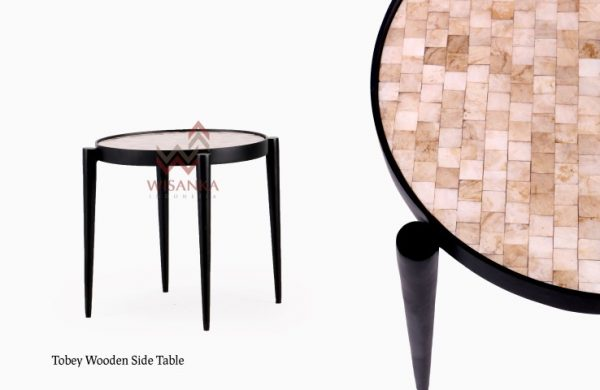 Tobey Wooden Side Table