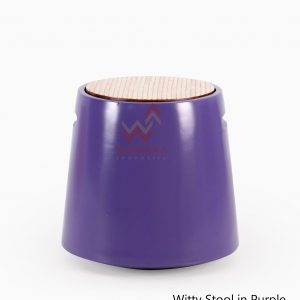 Wity Wooden Stool Purple