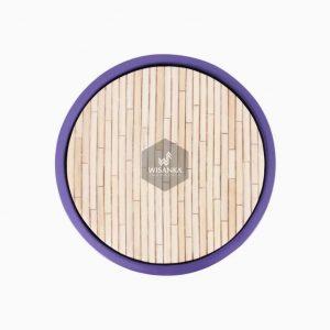 Wity wooden Stool fiberglass frame