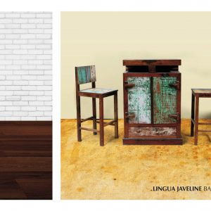 Lingua Javeline Boat Wood Bar Set