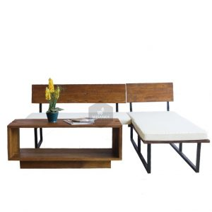 Omura Wooden Living Set