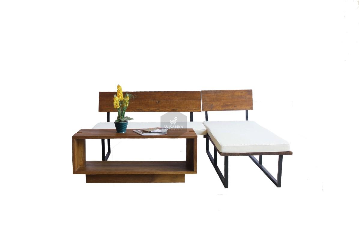 Omura Wooden Living Set