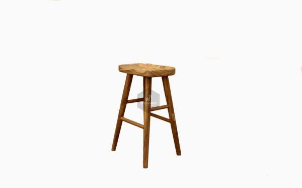 Belinda Wooden Bar Chair
