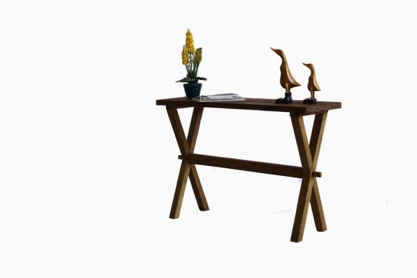 Cross Wooden Console Table